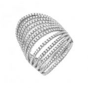 J-JAZ Micro Pave' 12 Row's of Cz Silver Ring